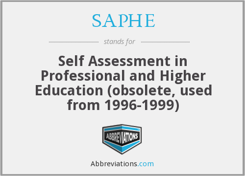 What does SAPHE stand for?
