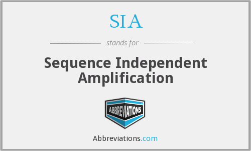 SIA - sequence independent amplification