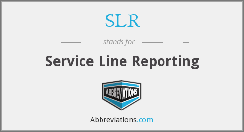 SLR - Service Line Reporting