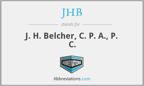 JHB - J. H. Belcher, C. P. A., P. C.