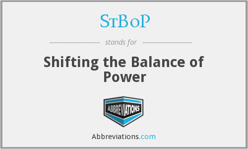 StBoP - Shifting the Balance of Power
