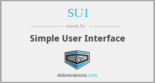 SUI - simple user interface