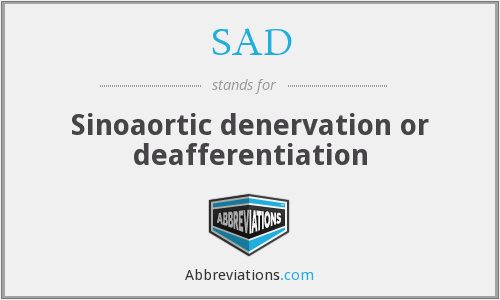 SAD - Sinoaortic denervation or deafferentiation