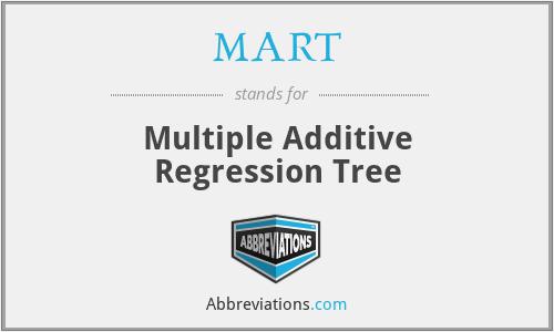 MART - Multiple Additive Regression Tree