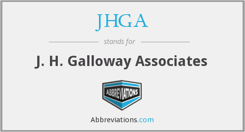 What does JHGA stand for?