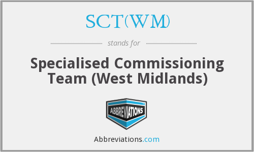 What does SCT(WM) stand for?