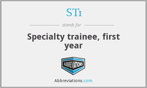 ST1 - Specialty trainee, first year