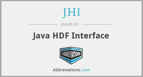JHI - Java HDF Interface