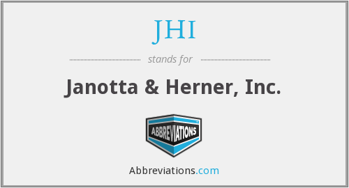 What does JHI stand for?
