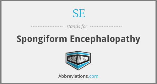 SE - Spongiform Encephalopathy
