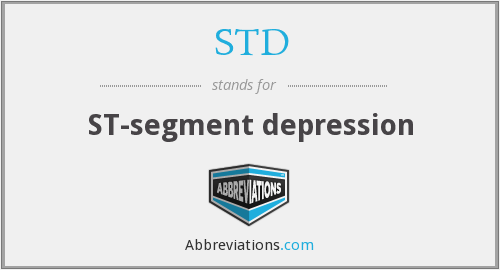 STD - ST-segment depression