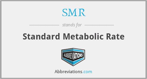 SMR - Standard Metabolic Rate