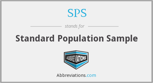 SPS - standard population sample