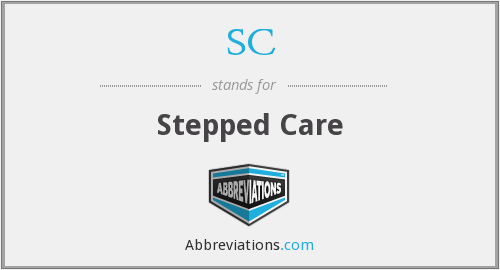 SC - stepped care