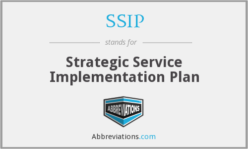 What does SSIP stand for?