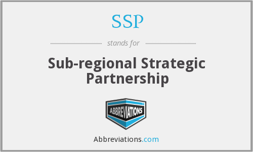SSP - Sub-regional Strategic Partnership
