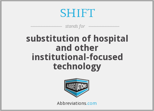 SHIFT - substitution of hospital and other institutional-focused technology