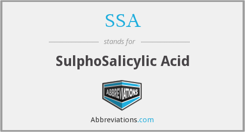 SSA - SulphoSalicylic Acid