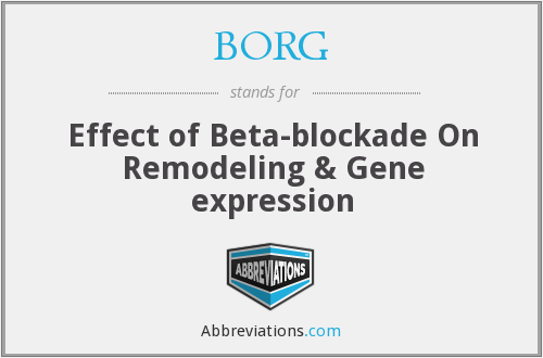 BORG - Effect of Beta-blockade On Remodeling & Gene expression