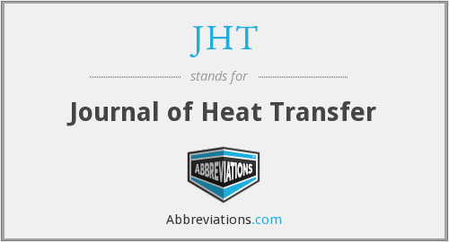 JHT - Journal of Heat Transfer