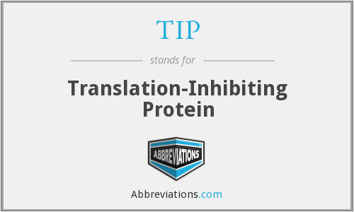 TIP - translation-inhibiting protein