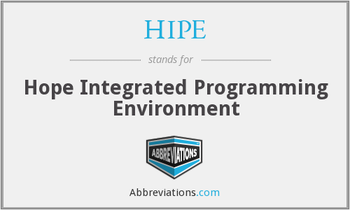 HIPE - Hope Integrated Programming Environment