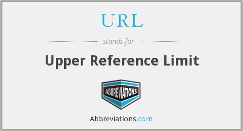 URL - upper reference limit
