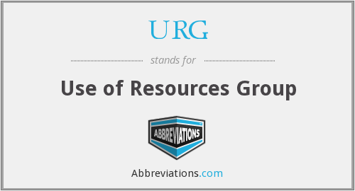 URG - Use of Resources Group
