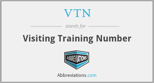 VTN - Visiting Training Number