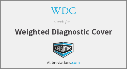 WDC - weighted diagnostic cover