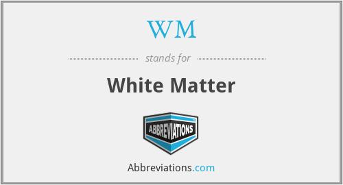 WM - white matter