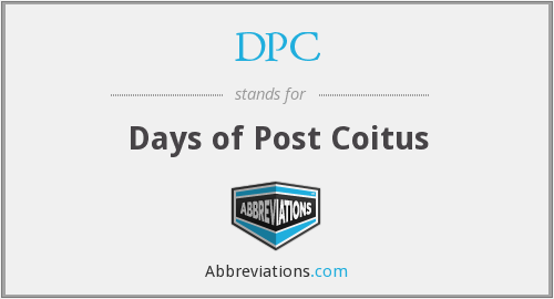 DPC - Days of Post Coitus