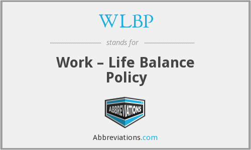WLBP - Work – Life Balance Policy