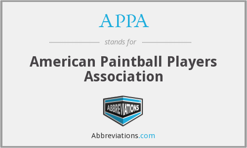 APPA - American Paintball Players Association