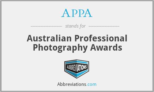 APPA - Australian Professional Photography Awards