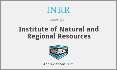 What does INRR stand for?