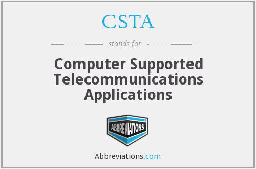 CSTA - Computer Supported Telecommunications Applications