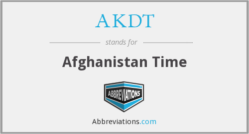AKDT - Afghanistan Time