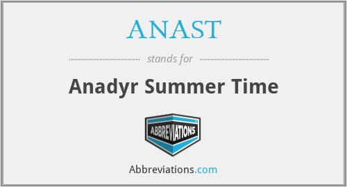 ANAST - Anadyr Summer Time