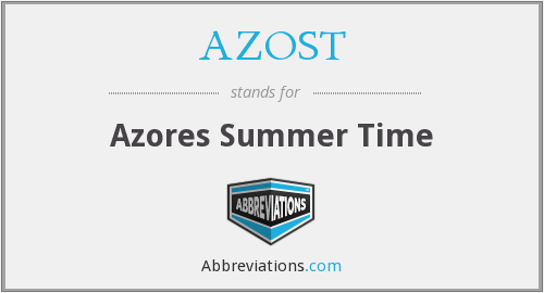 AZOST - Azores Summer Time