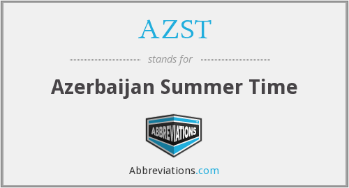 AZST - Azerbaijan Summer Time