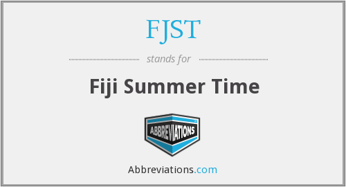 FJST - Fiji Summer Time