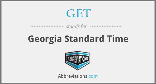 GET - Georgia Standard Time