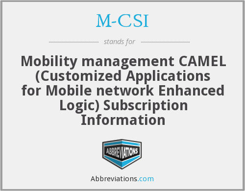 M-CSI - Mobility management CAMEL (Customized Applications for Mobile network Enhanced Logic) Subscription Information
