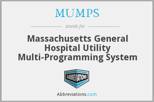 MUMPS - Massachusetts General Hospital Utility Multi-Programming System