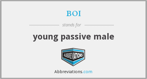 boi - young passive male
