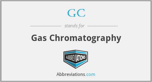 GC - gas chromatography