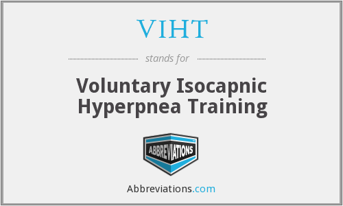 VIHT - voluntary isocapnic hyperpnea training