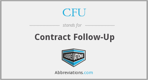 CFU - Contract Follow-Up