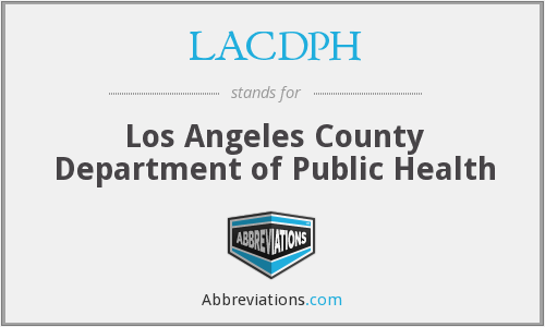 What does LACDPH stand for?